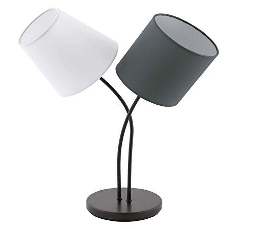 40w Nacht Licht (Design Tisch Leuchte Schlafzimmer Lese Nacht Licht Textil Lampe Kabel Schalter Eglo 95194)