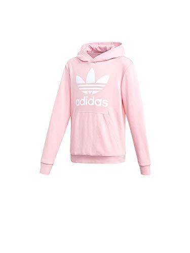 Rosa Damen Sweatshirt (adidas Unisex-Kinder Trefoil Sweatshirt, Rosa (Rossua/Blanco), 158)