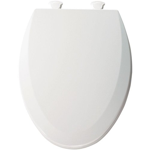 Bemis 1500EC 390 Lift-Off Elongated Closed Front Toilet Seat, Cotton White by Bemis (Off-white Wc-sitz)