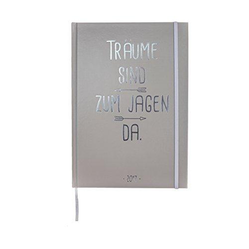 VISUAL STATEMENTS® Terminplaner 2017 mit Sprüchen / Wochenkalender / Jahresplaner / Hardcover mit Fadenheftung / Lesezeichenband und Gummiband / 148 x 210 mm (DIN A5)