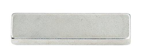 Connex DY7100009 Magnet Neodym, Eckig, Haftkraft 18 kg, 2 Stück, 4 x 1 x 0.5 cm