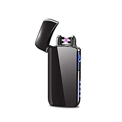Electronic Plasma Lighter, Windproof Flameless Electric Double Arc Plasma Lighter Usb Rechargeable Touch Sensor Lighter from DBG