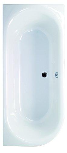 AquaSu I Acryl - Badewanne ovO II I 180 x 80 cm I Weiß I Links I Wanne I Badewanne I Bad I Badezimmer
