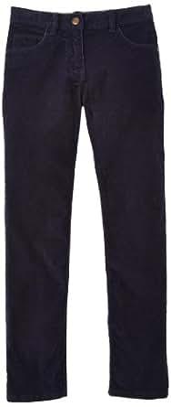 Petit bateau - cassave - pantalon - fille - bleu (abysse) - FR : 6 ans - 114 cm (Taille Fabricant : 116 cm)