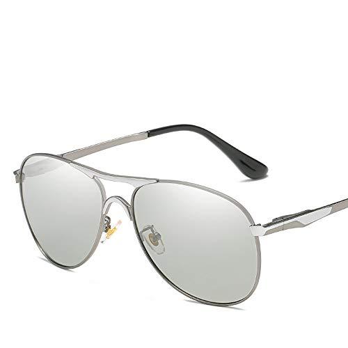 ZUEN Farbwechselnde Sonnenbrille Polarisierter, blendfreier UV400-Spiegel Männliche und weibliche Modelle für Metall Å Yang-Spiegel zur Verringerung der Ermüdung der Augen,Red