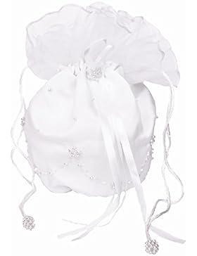Brautbeutel mit Perlen weiß
