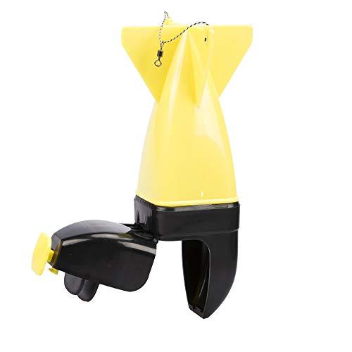DEtrade Tiefwasser Maschinen Automatischer Sinkender Plastiknistmaschine-Fischereiköder Nesting-Gerät Angeln Feeder (Yellow)