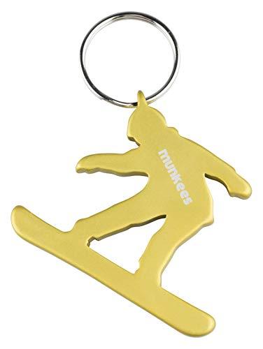 munkees Schlüsselanhänger Snowboard-Figur Flaschenöffner Sport-Fans, Gelb, 34952