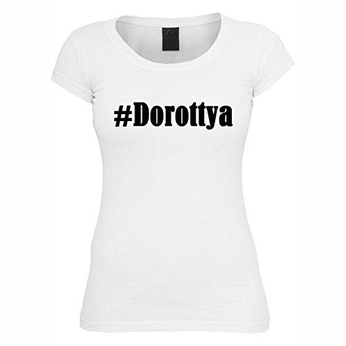 T-Shirt #Dorottya Hashtag Raute für Damen Herren und Kinder ... in den Farben Schwarz und Weiss Weiß