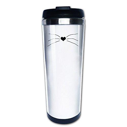 sonwandice- Phil und Dan Katze Schnurrhaare Hitze Nase Kaffee Thermobecher Kaffee Thermos 304Edelstahl Kaffee Tasse 400ml (Nashville-kaffee-tasse)
