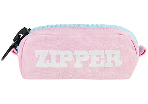 Liying–Nuevo estuche Estuche stiftet cenizas LandLeder estuche lápiz Make Up–Bolsa de aseo Bag Madchen Womens Accessory Pencil Case estuche, color rosa