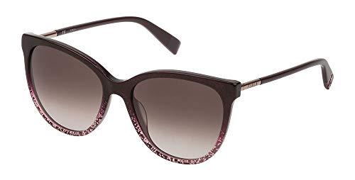 Furla occhiali da sole sfu232 0gbg 55-17-140 donna prugna glittery lucida lenti brown gradient pink