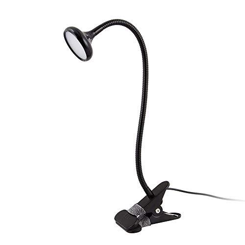 XingYao Led Schreibtischlampe mit Clip 3W Flexible Led Leselampe Usb Stromversorgung Led Lesen Energieeffiziente Buch Lampe, schwarz