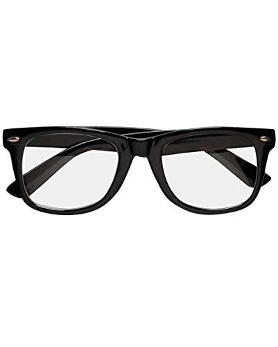 Horror-Shop Schwarze Nerd Brille mit Gläsern