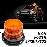LED Luce stroboscopica 12V Ambra segnalazione lampeggiante di emergenza Orange Luce Rotante magnetica per Camion scuola bus
