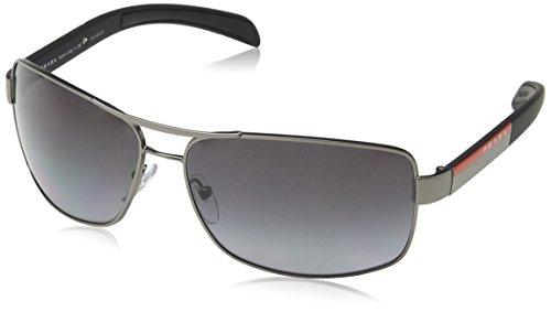 Prada Linea Rossa Herren Sonnenbrille PS54IS, Grau (Gunmental 7CQ5W1), One size (Herstellergröße: - Prada Brillen Sport
