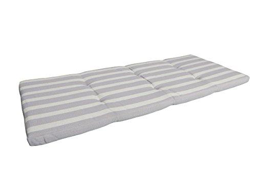 Balke Luxus 2-Sitzer Bankauflage 'Rips Natur / Schlamm 115', ca. 115x50 cm, gestreift strukturiert