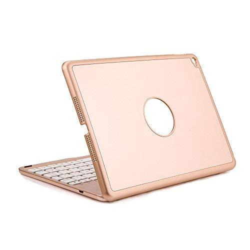 iEGrow Bluetooth Tastatur für iPad Air 2 iPad 6 [QWERTZ Deutsches Tastaturlayout] Gold