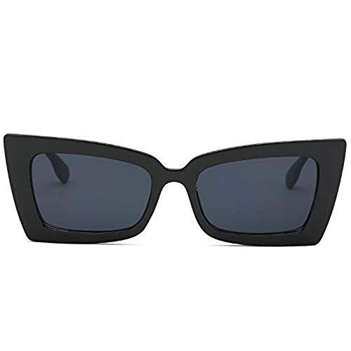 WQIANGHZI Damen Sonnenbrillen Retro Polarisiert Klassische Brille Mode Schutzbrillen Hochwertige Lässige Unterschiedliche Farben Nerdbrille im Shades Steampunk Stil