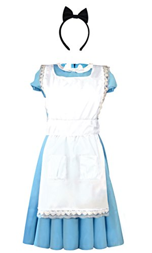 On Kostüm Alice Wonderland - Emmas Wardrobe Alice Kostüm - - Frauen-Abendkleid für Halloween oder Hen Night - Heben Sie Sich von der Masse mit unserer einzigartigen Design - UK-Größe 6-16 (Women: 38, Long Blue Dress)