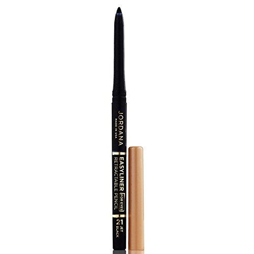 JORDANA Easyliner For Eyes Retractable Pencil - Jet Black - Jordana Liquid