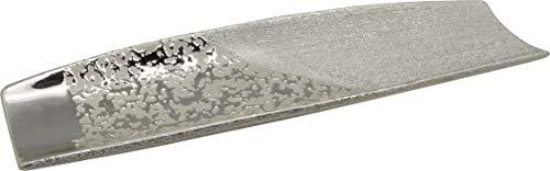 Dreamlight Moderne Dekoschale Obstschale Schale \'Grace\' aus Keramik Champagner/Silber Länge 38 cm Breite 12 cm