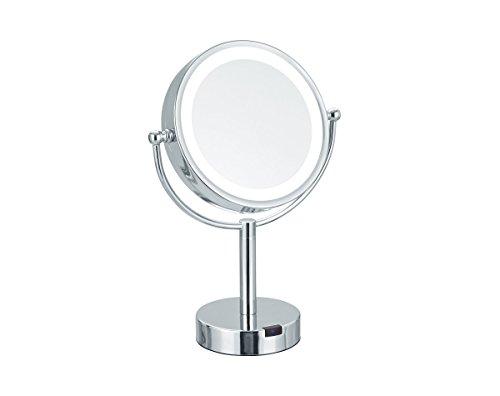 Nicol Theresa LED Standspiegel 4026200 Kosmetikspiegel Bewegungssensor 5-Fach Vergrößerung,...