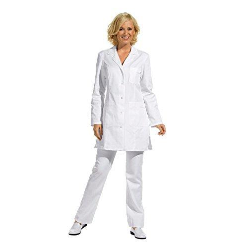 Leiber - Casacca lunga con maniche lunghe, colore: Bianco