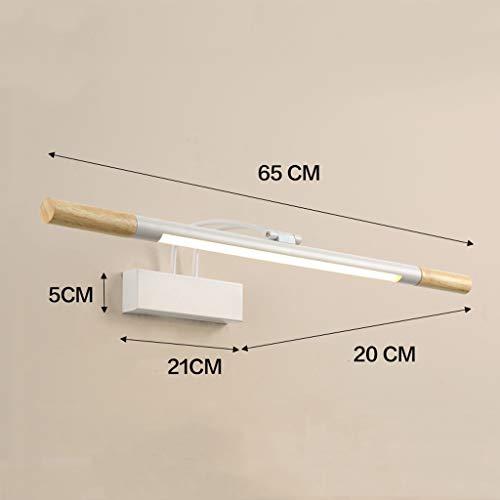 Moderner Schminkspiegel (WOYQS Badezimmer-LED-Spiegel-Scheinwerfer-Schminkspiegel-Lampe Moderner Minimalistischer Lampen-Streifen Geeignet für Wohnzimmer Bad (Color : Warm light-A))