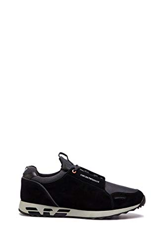 ARMANI UOMO Sneakers Stringata Nero Mod. 43