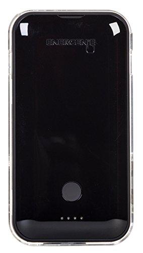 Energenie ChargeGenie 2800mAh MFI Lightning Gel Pad Tragbares Drahtloses Ladegerät Externer Akku Powerbank Kompatibel mit Apple iPhone 5/5C/5S/SE/6/6 Plus/6s/6s Plus, iPad Mini/Pro, und iPod Touch 5. Generation und später - Schwarz