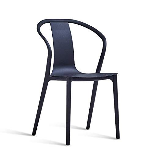 Yushesen Retro Kunststoff Esszimmerstuhl Anti-Lärm, Stacking Bar Chair 2 Stücke Mit Armlehnen Wasserdicht Für Haus Und Büro, F (Farbe : D, Größe : -) -