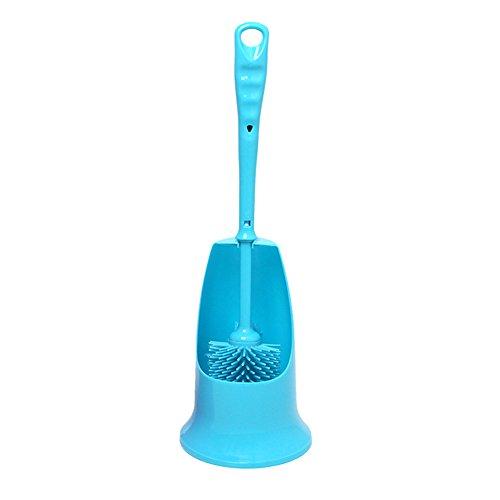 Manico antiscivolo long-hand fronte-retro scopino pulito toilette flauto pulito e conveniente Blue