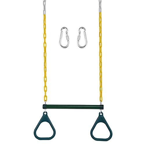 -Trapez-Schaukelstange mit 2 Ringen Hochleistungs-Spielplatz-Trapezstange mit Ringen, extra Kettenschaukel ()
