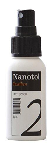 Nanotol Textilien Protector, Imprägnierspray mit Nanotechnologie, Schuhpflege, NTP-2-50 ml für ca. 1 m²