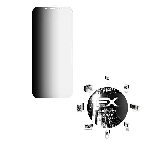 atFolix Blickschutzfilter kompatibel mit Allview X4 Soul Infinity Z Blickschutzfolie, 4-Wege Sichtschutz FX Schutzfolie