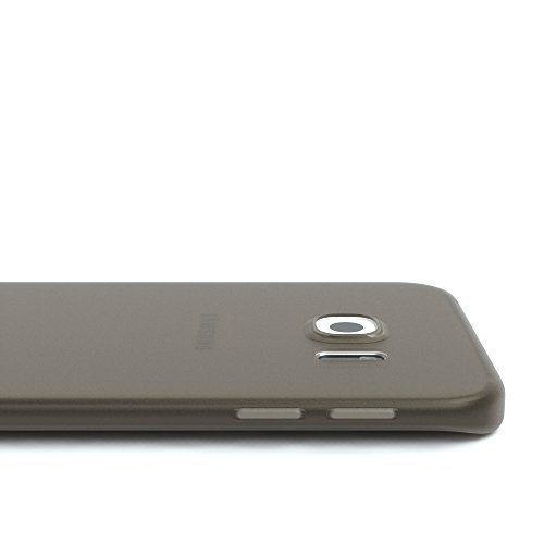 Samsung Galaxy S6 Edge Hülle - EAZY CASE Ultra Slim Cover Handyhülle - dünne Schutzhülle aus Silikon in Schwarz / Anthrazit Matt Schwarz / Anthrazit