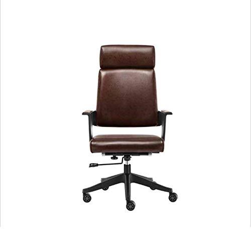 QZ HOME Swivel Chair Ergonomischer Stuhl E-Sports Game Chair Ergonomischer Stuhl Drehbarer Drehstuhl Schreibtisch Executive Chair Langlebig Und Stabil Höhenverstellbar Ergonomisch (Farbe : Braun) -