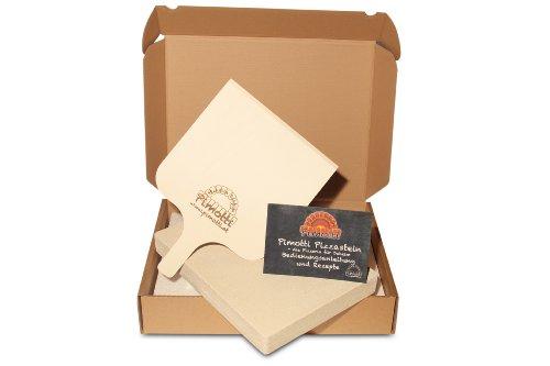 Pimotti Pizzastein – 5 cm Dicke mit Pizzaschaufel und Rezepten - 3