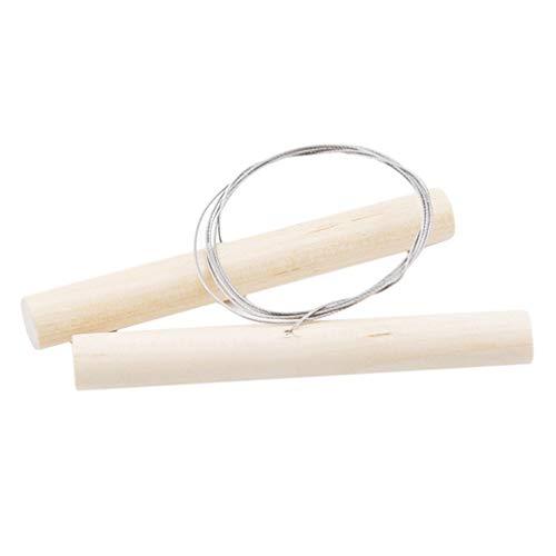 LIGHTBLUE Einfacher Holzdraht-Tonschneider für Knetmasse-Käseschneidwerkzeuge