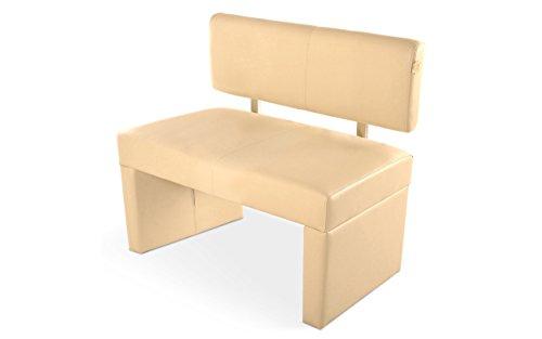 SAM® Esszimmer Sitzbank, 100 cm, in creme, Sitzbank mit Rückenlehne aus Samolux®-Bezug, angenehmer Sitzkomfort, frei im Raum aufstellbare Bank [53258437]