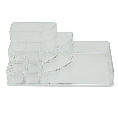 Acrylique transparent boîte de maquillage cosmétique Organisateur Rangement de 8 embouts