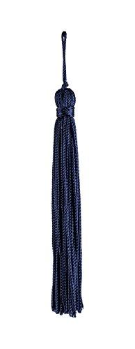 Lot de 10 Bleu marine chainette Tassel, 10,2 cm de long avec bordure 2,5 cm Loop, Basic Collection Style # Rt04 Couleur : bleu marine – J3