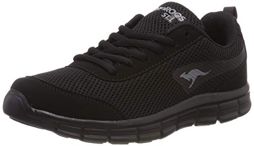 KangaROOS K-Run Ref Light, Zapatillas Unisex Adulto, Negro Jet Black/Mono 5500, 36 EU