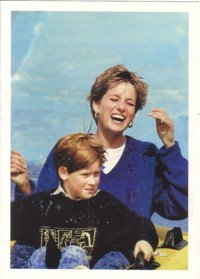 Diana at Thorpe Park with Prince Harry - Colour Picture