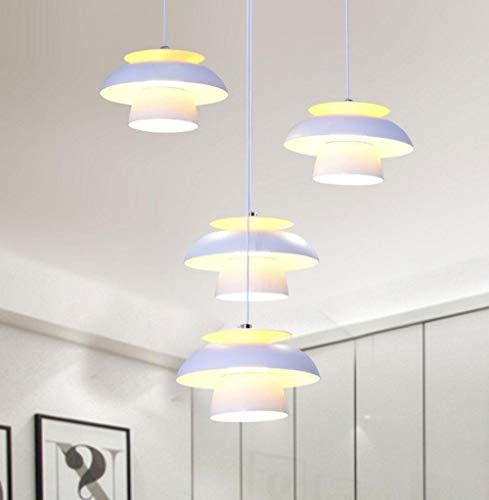 Pendelleuchte LED Eisen Acryl Restaurant Bar Lampe moderne einfache 4-Kopf kleinen Brunnen Studie 40W Pendelleuchte -