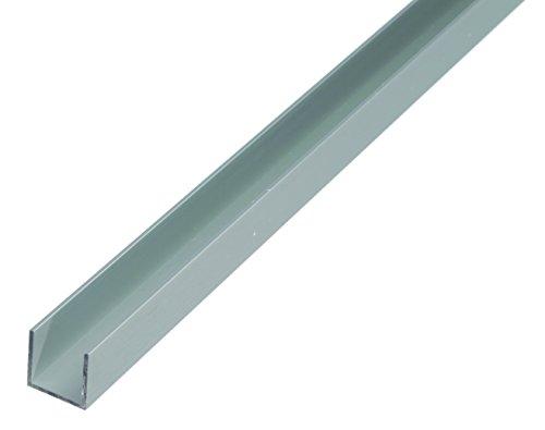 Preisvergleich Produktbild GAH-Alberts 474881 U-Profil,  Material: Aluminium,  Oberfläche: silberfarbig eloxiert,  Länge: 2000 mm,  Breite: 8, 6 mm,  Höhe: 12 mm,  Materialstärke: 1, 3 mm,  lichte Breite: 6, 0 mm