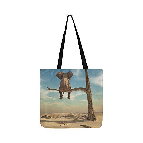 Soportes para elefantes en una rama delgada SHAOKAO SHAOKAO Bolso de mano...