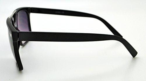 Vox tendance classique de haute qualité pour femme Hot Fashion Lunettes de soleil W/sans pochette en microfibre Black Frame - Smoke Lens
