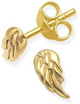 HEATHER Needham Silber–Gold Engel Flügel Ohrringe–Größe: tiny: 7mm x 3,5mm. Weihnachten Geschenkverpackung...